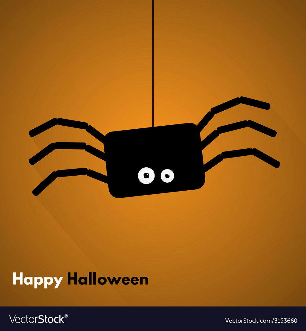 Happy halloween label with spider vector | Price: 1 Credit (USD $1)