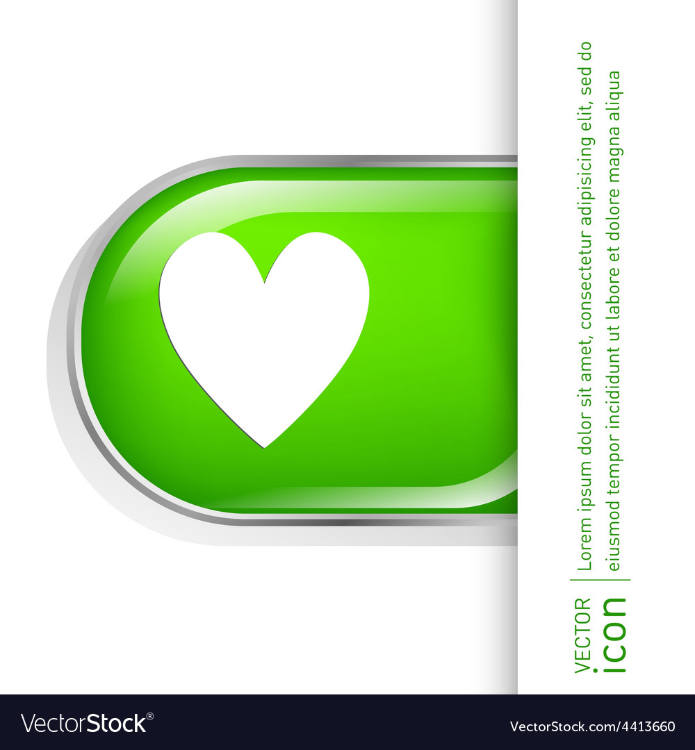 Heart symbol vector | Price: 1 Credit (USD $1)