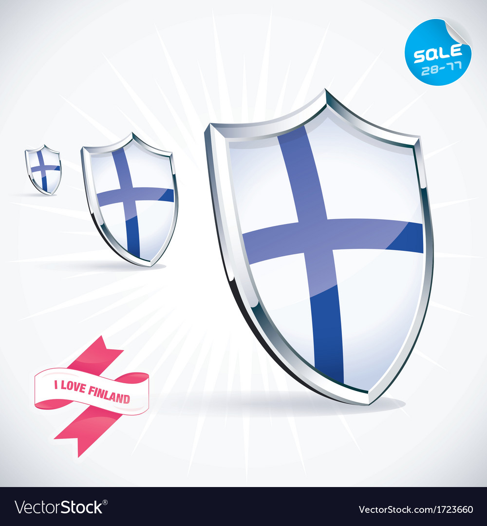 I love finland flag vector | Price: 1 Credit (USD $1)