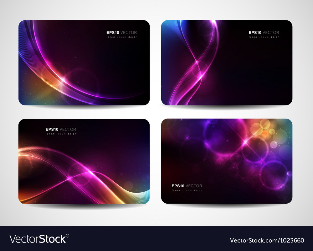 Magical light business cards vector | Price: 1 Credit (USD $1)