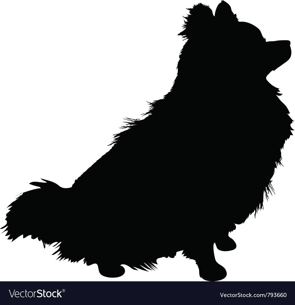 Pomeranian silhouette vector | Price: 1 Credit (USD $1)