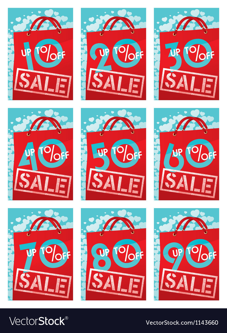 Sale discounts vector | Price: 1 Credit (USD $1)