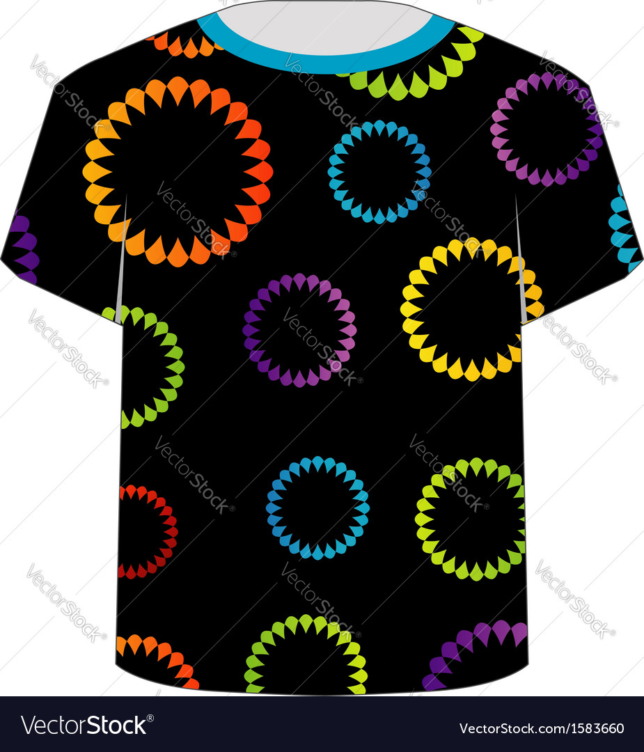 T shirt template- floral tee vector | Price: 1 Credit (USD $1)