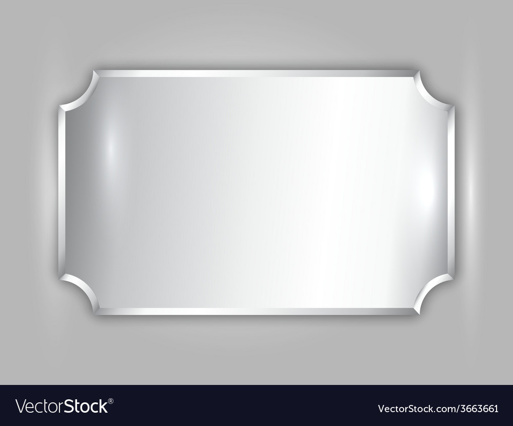 Abstract precious metal silver award plate vector | Price: 1 Credit (USD $1)