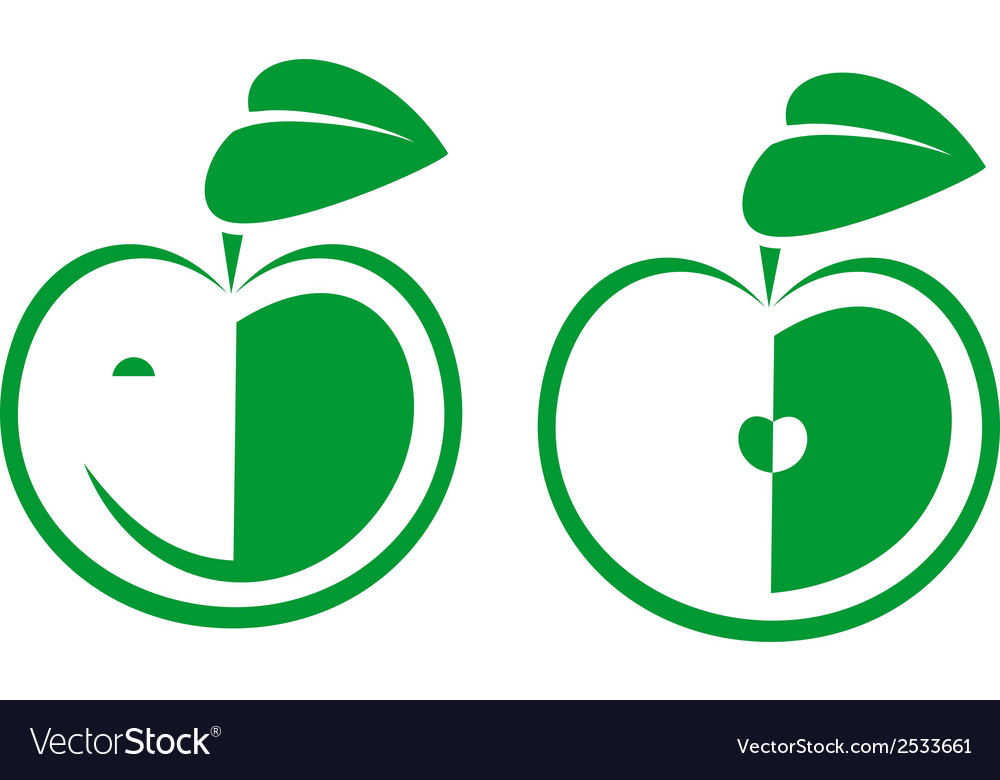 Apple icons on white background vector | Price: 1 Credit (USD $1)