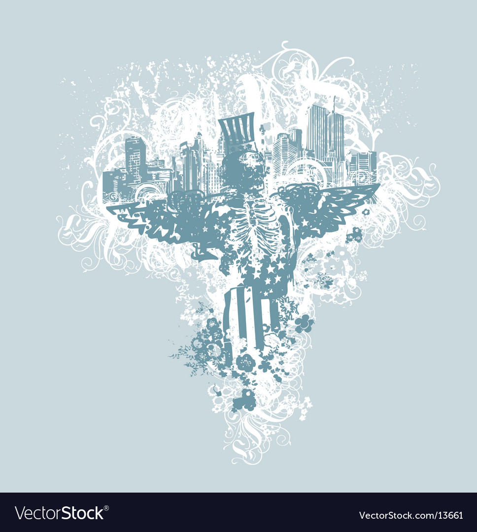 City of angels illustration vector | Price: 1 Credit (USD $1)