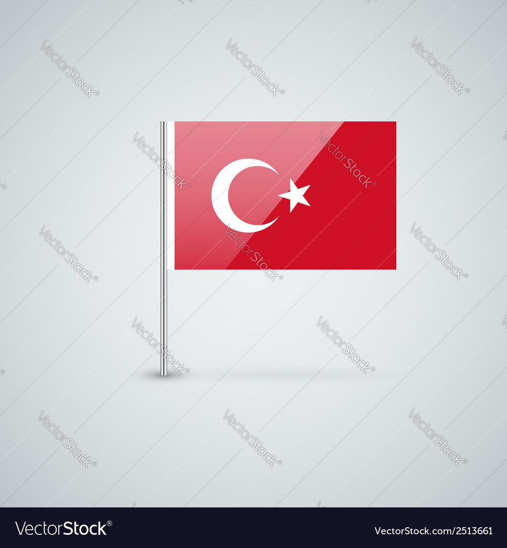Flag of turkey vector | Price: 1 Credit (USD $1)