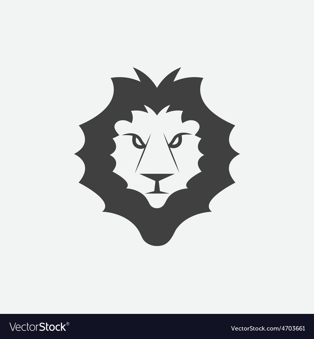 Lion head design template vector | Price: 1 Credit (USD $1)