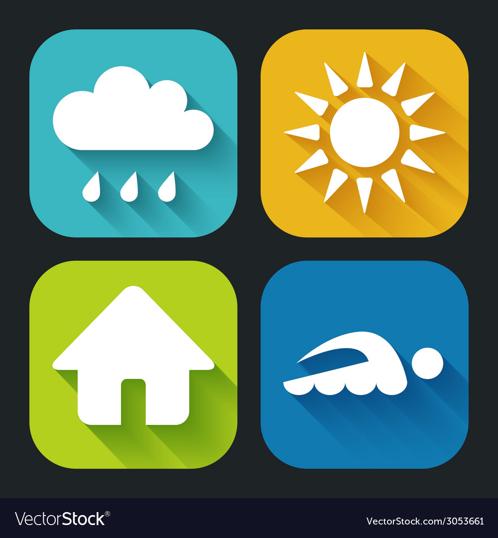 Modern flat icons for web and mobile applications vector | Price: 1 Credit (USD $1)