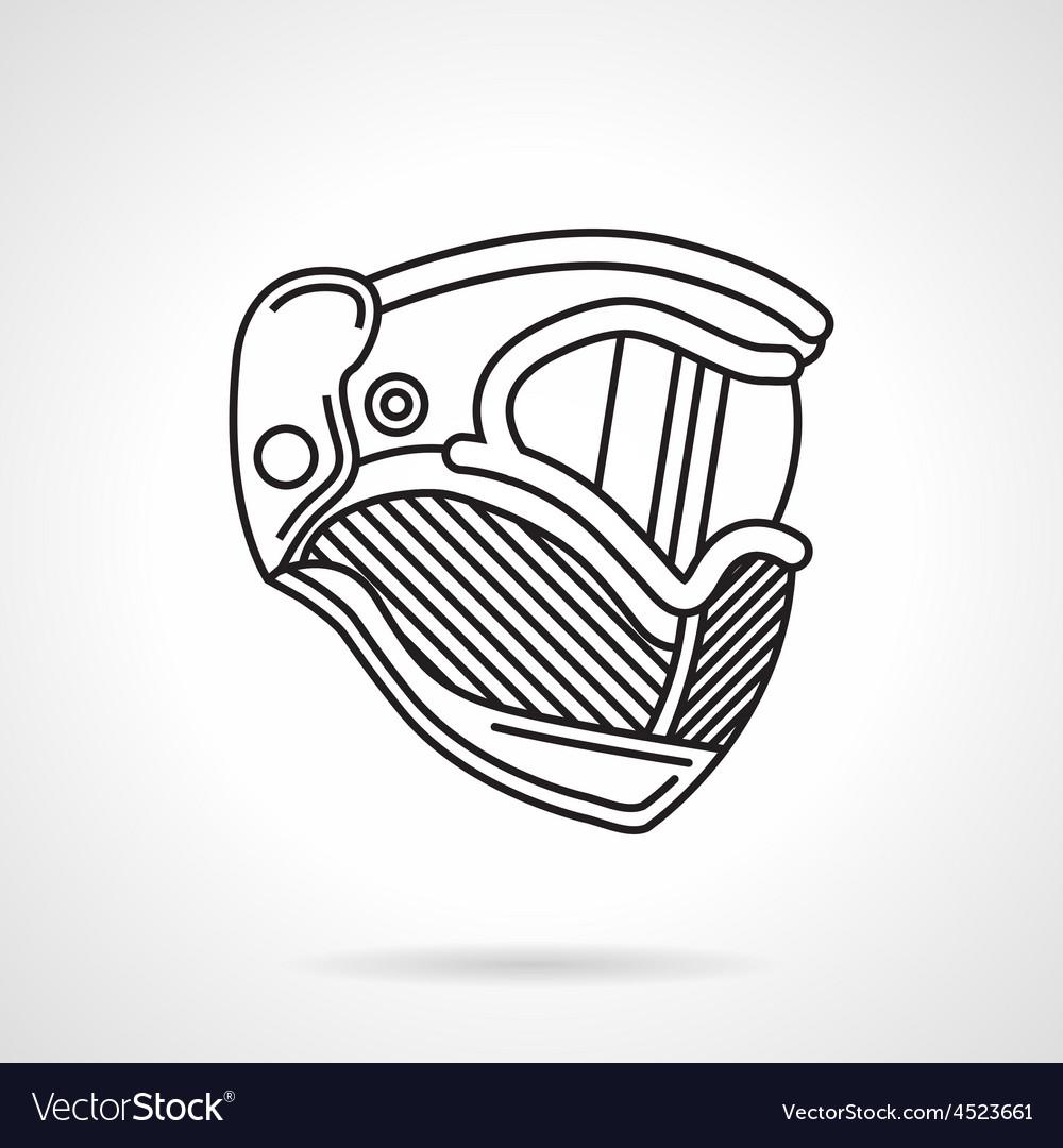 Paintball helmet flat line icon vector | Price: 1 Credit (USD $1)