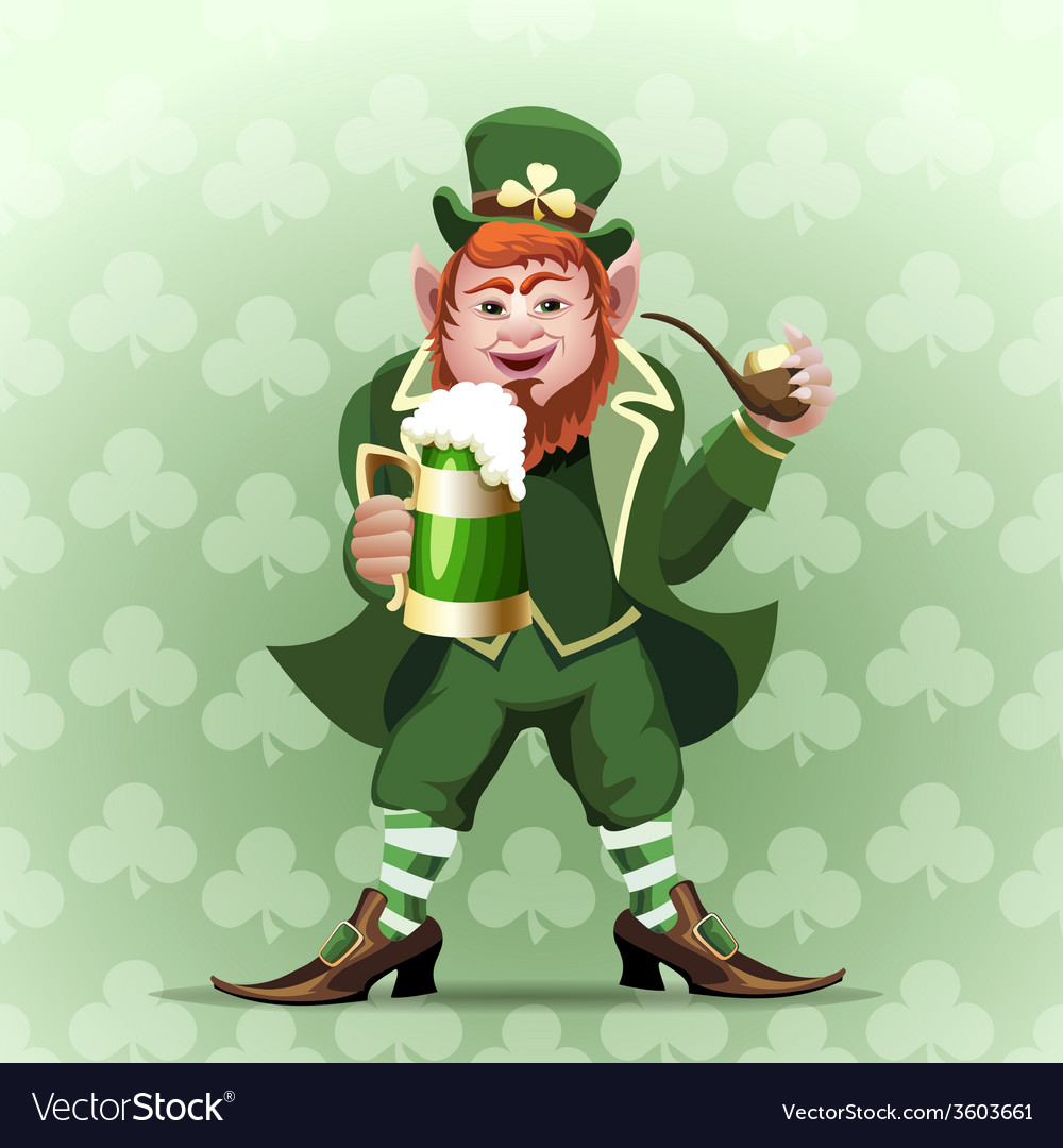 Smiling leprechaun vector | Price: 3 Credit (USD $3)