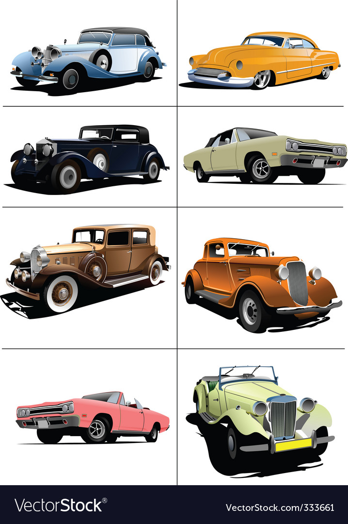 Vintage cars vector | Price: 1 Credit (USD $1)