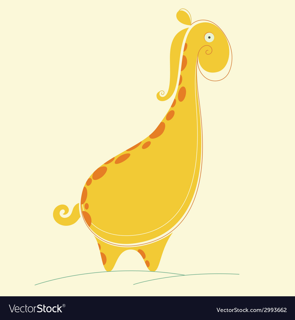 Abstract giraffe vector | Price: 1 Credit (USD $1)