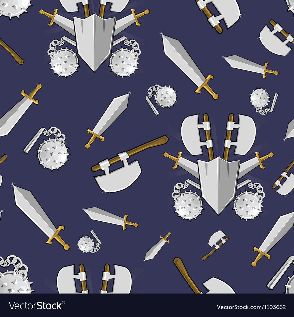 Ancient weapon cartoon background vector | Price: 1 Credit (USD $1)