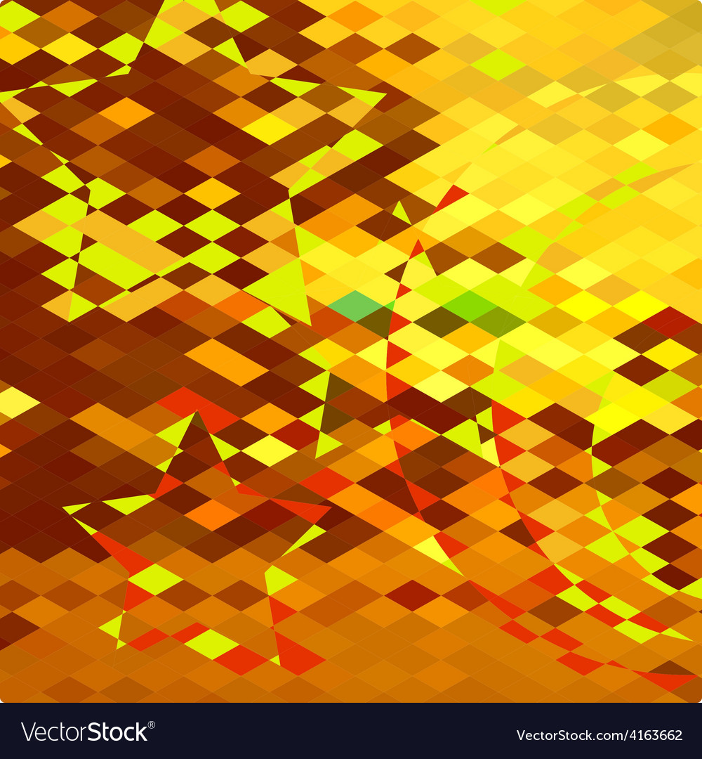 Autumnal forest abstract low polygon background vector | Price: 1 Credit (USD $1)