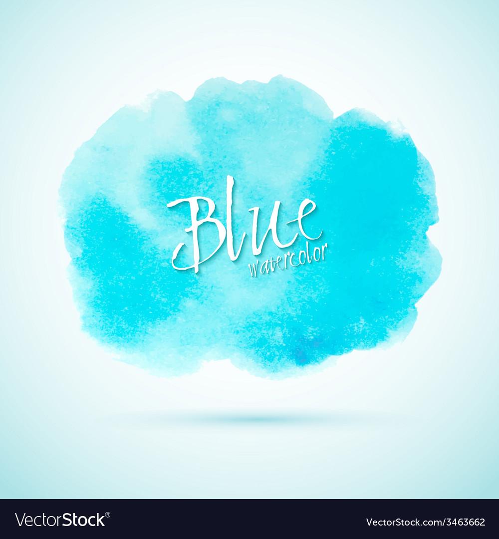 Blue watercolor splash design element vector   Price: 1 Credit (USD $1)