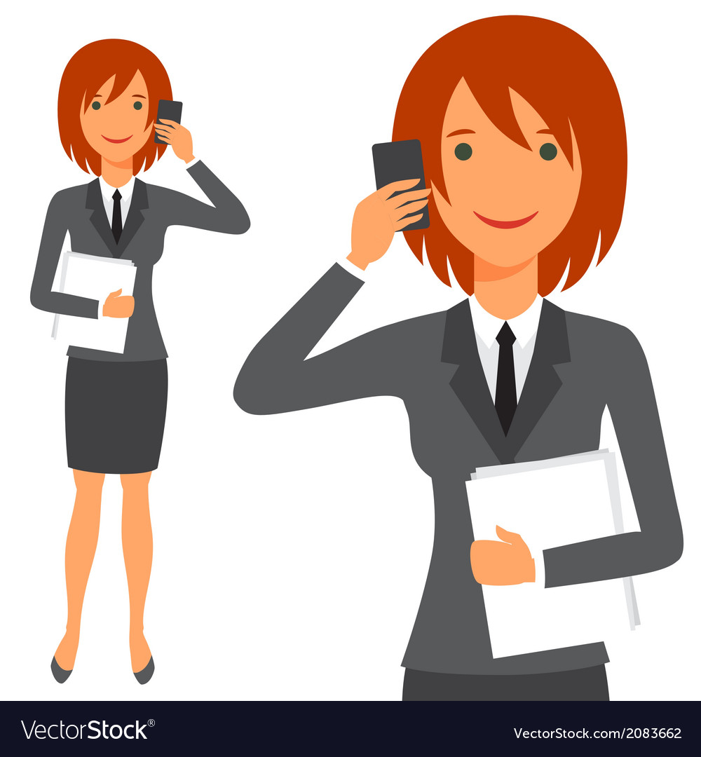 Cute business lady in suit vector | Price: 1 Credit (USD $1)