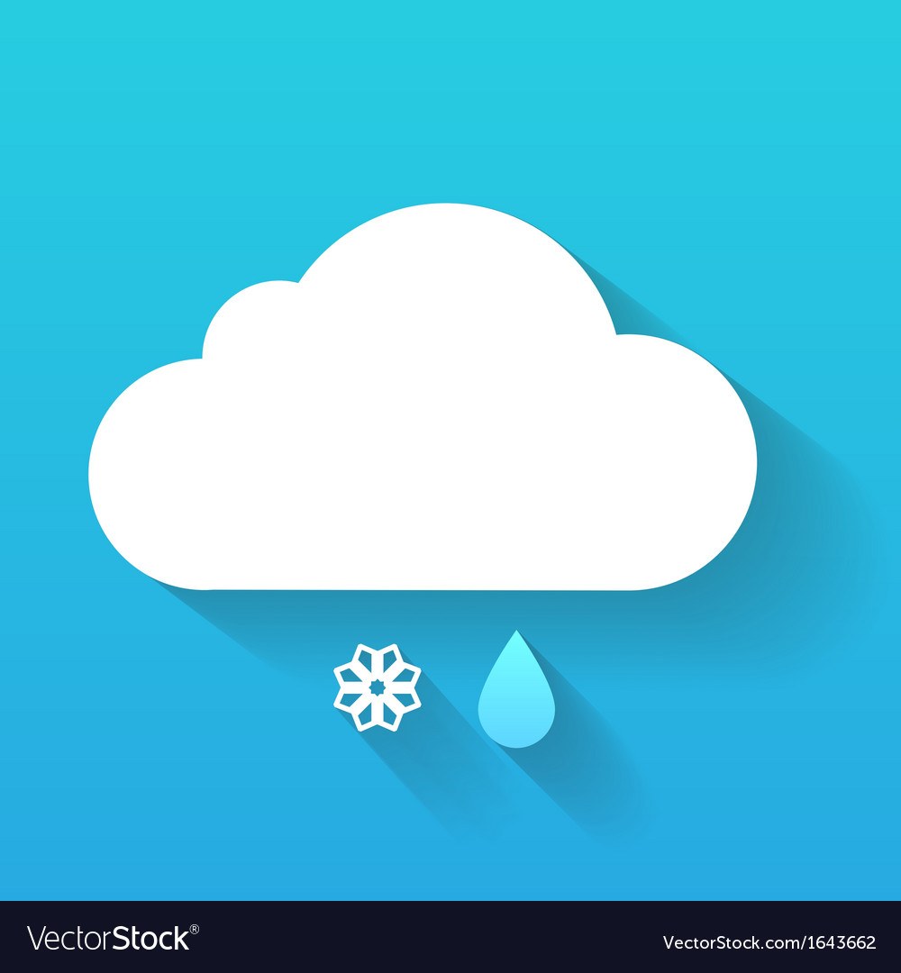 Day cloud snow flake and rain drop isolated on vector | Price: 1 Credit (USD $1)