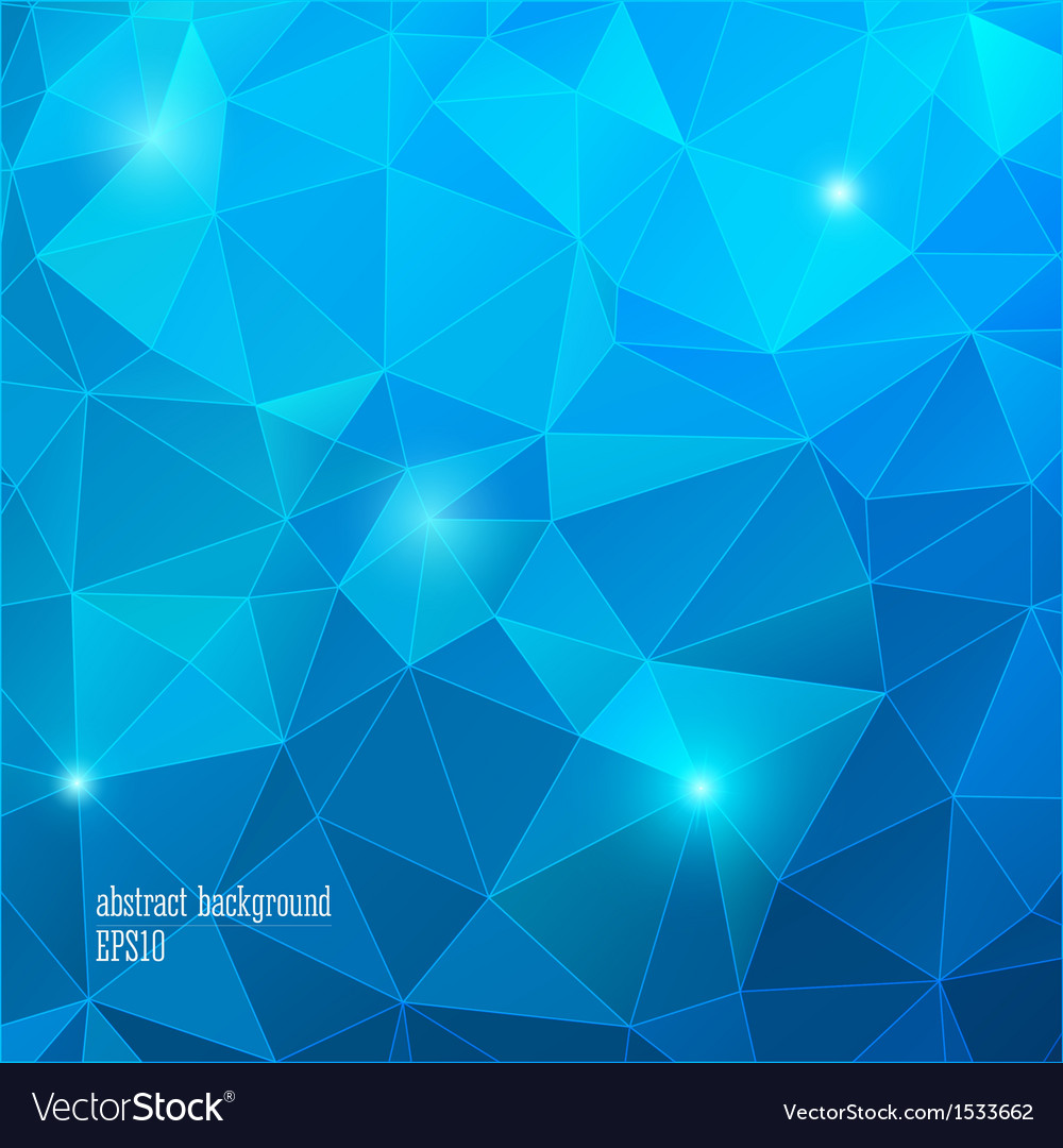 Geometric blue background with triangle vector | Price: 1 Credit (USD $1)