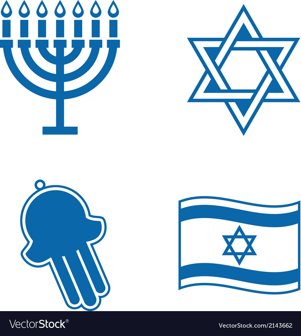 Jewish icons vector | Price: 1 Credit (USD $1)