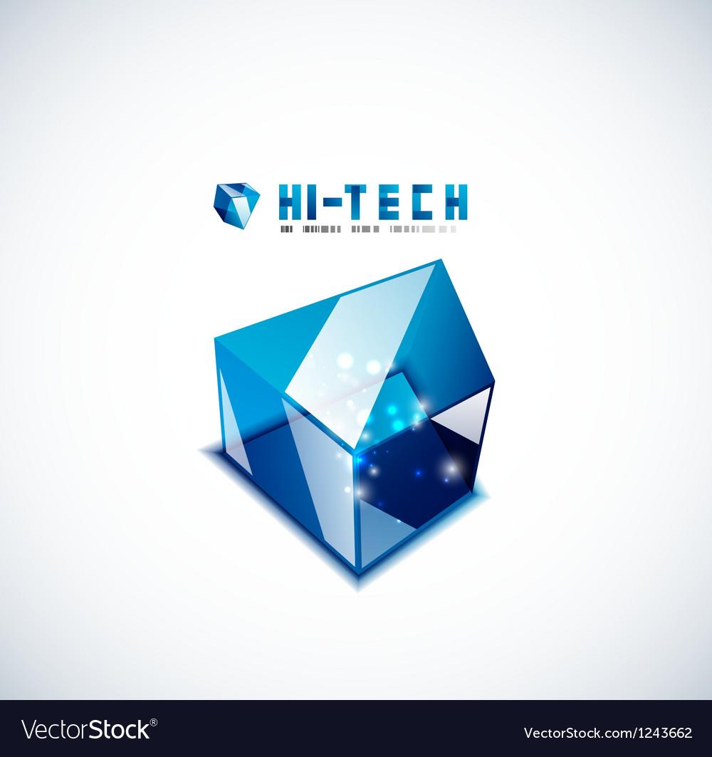 Modern 3d glass cube design template vector | Price: 1 Credit (USD $1)
