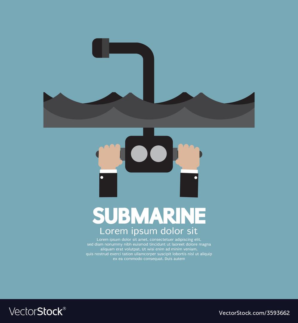 Periscope of submarine under the ocean vector | Price: 1 Credit (USD $1)
