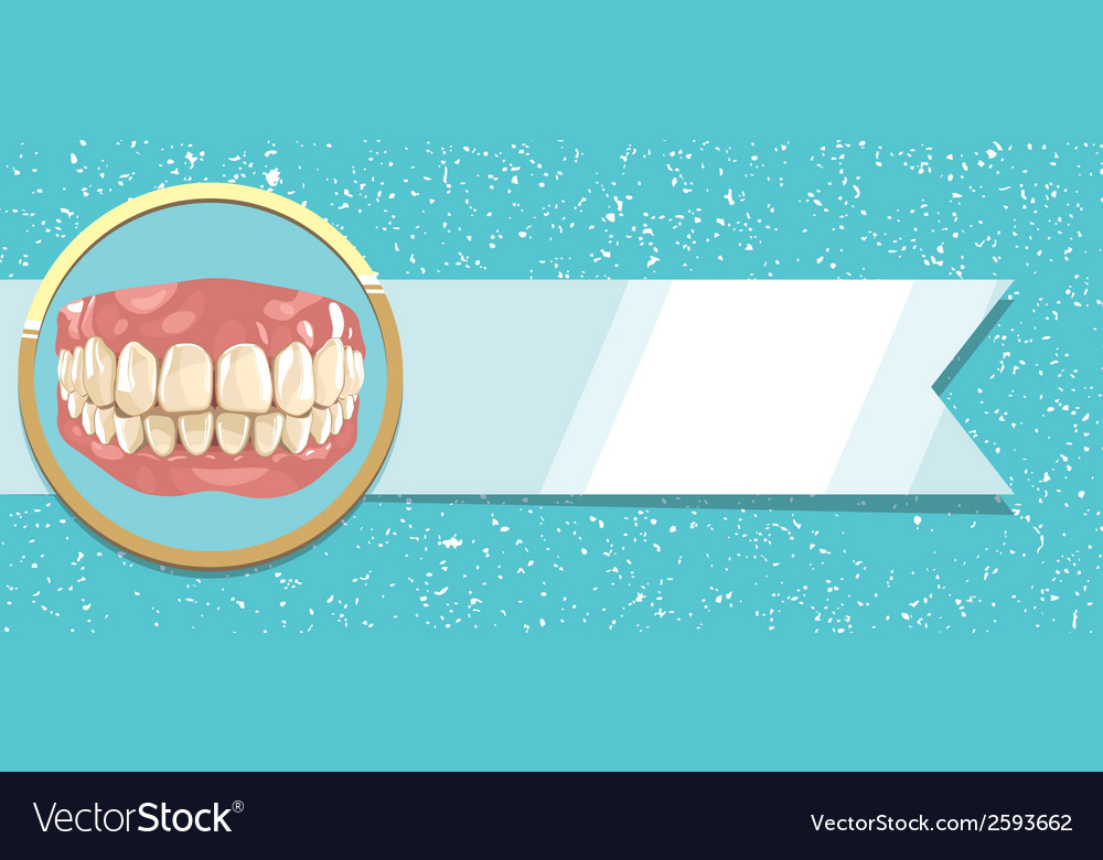 Teeth and ribbon vector | Price: 1 Credit (USD $1)