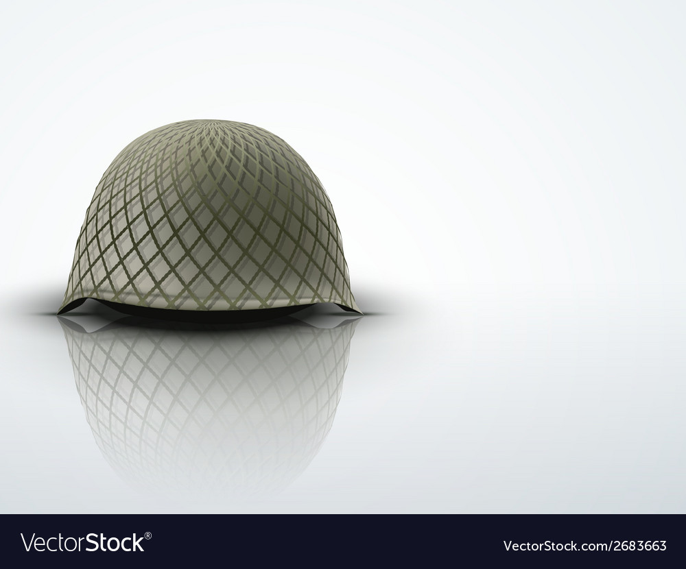 Background with military classic helmet vector | Price: 1 Credit (USD $1)