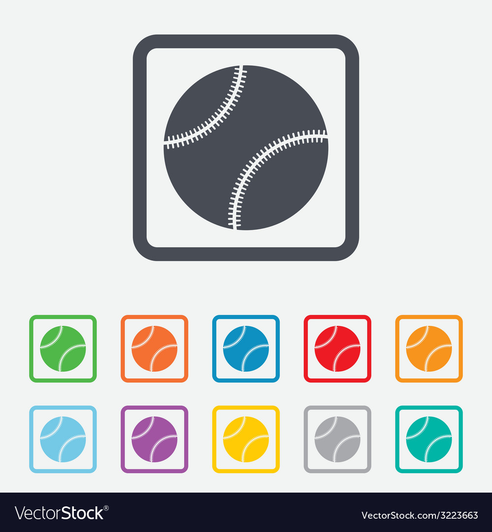 Baseball ball sign icon sport symbol vector | Price: 1 Credit (USD $1)
