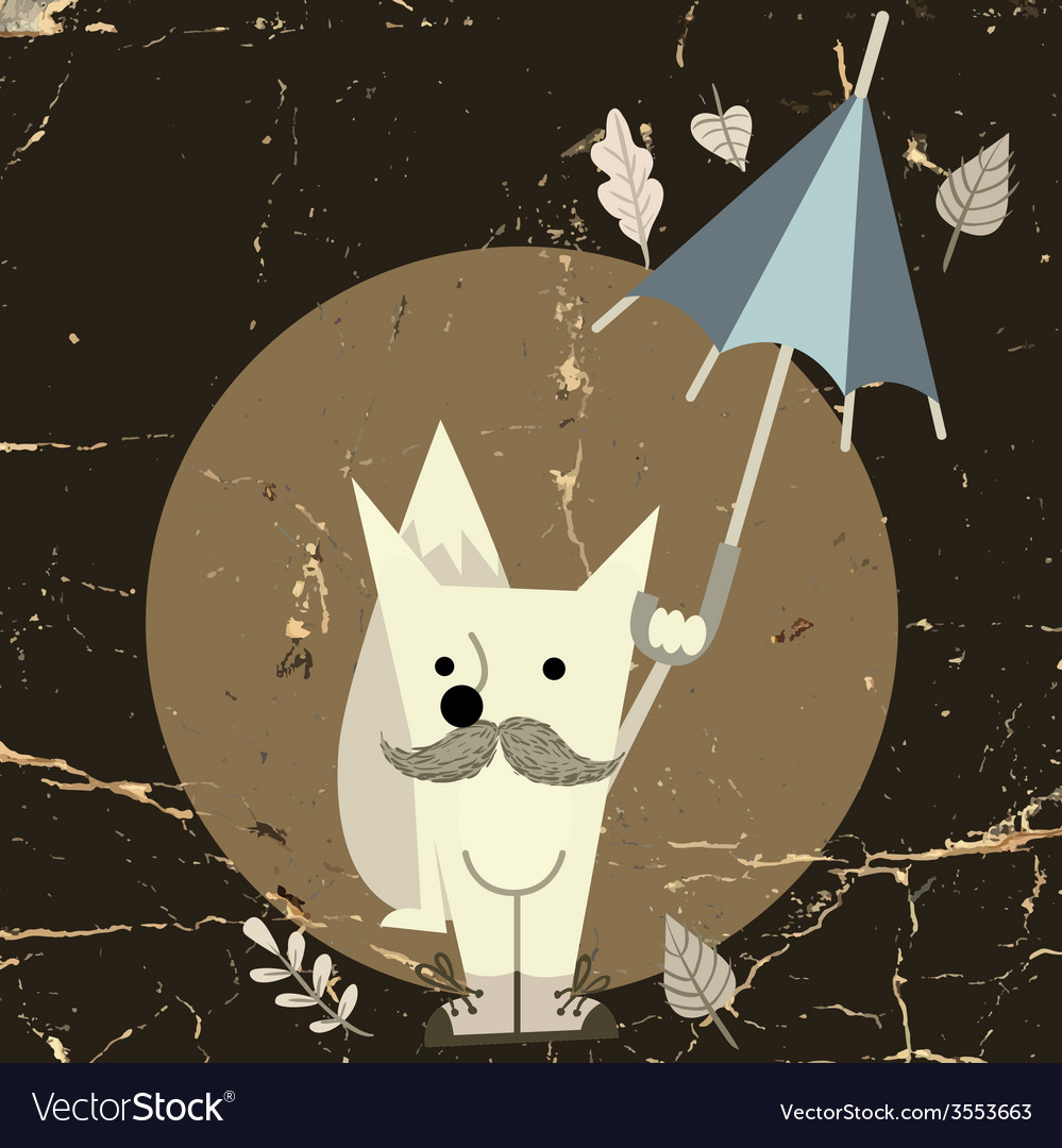 Cartoon fox hipster style vector   Price: 1 Credit (USD $1)