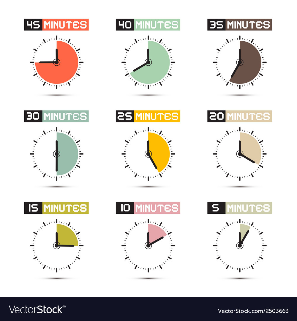 Clock face set vector | Price: 1 Credit (USD $1)