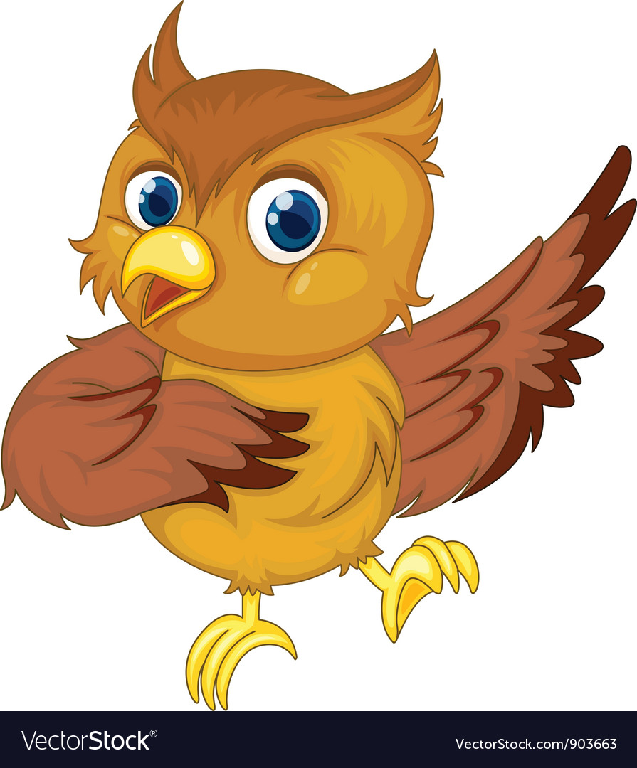 Comical owl vector | Price: 3 Credit (USD $3)