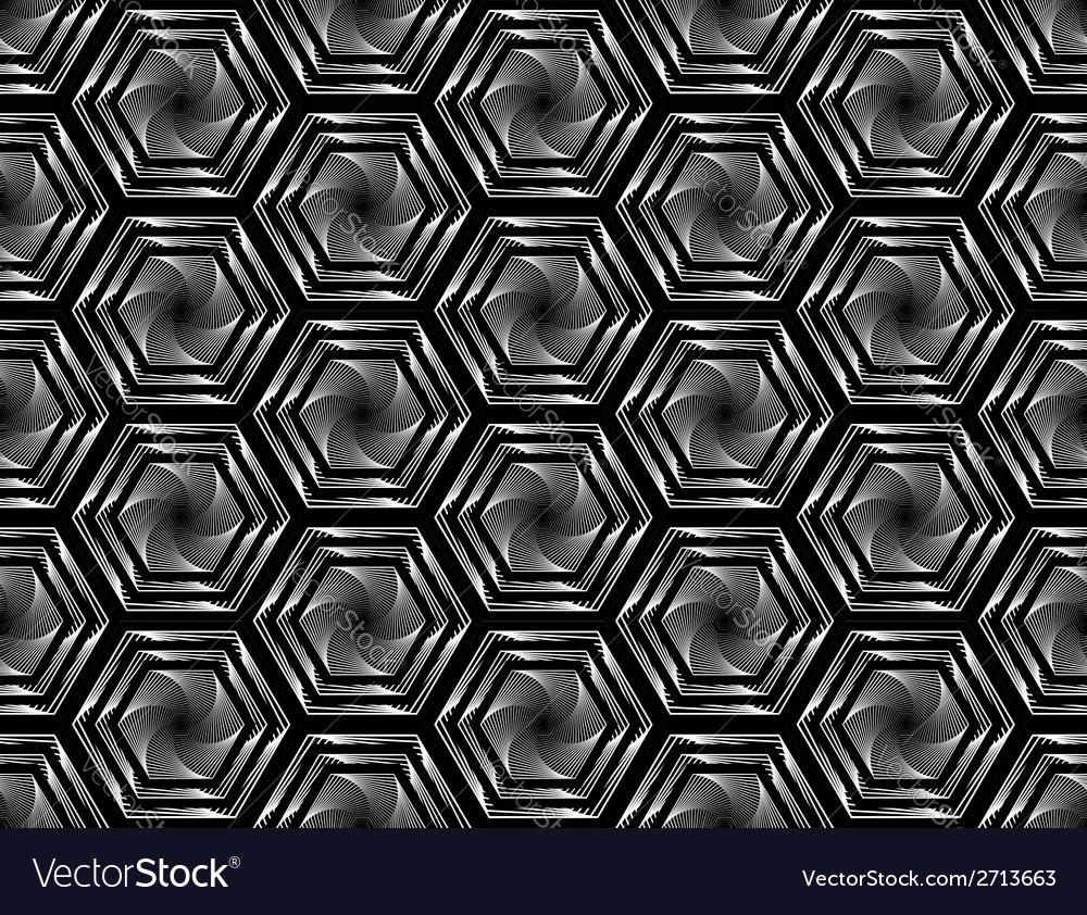 Design seamless monochrome hexagon pattern vector   Price: 1 Credit (USD $1)