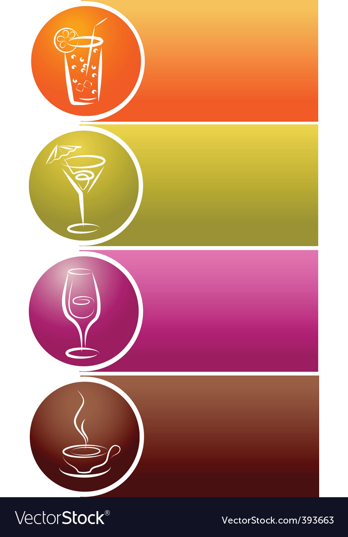 Drinks and refreshments vector | Price: 1 Credit (USD $1)