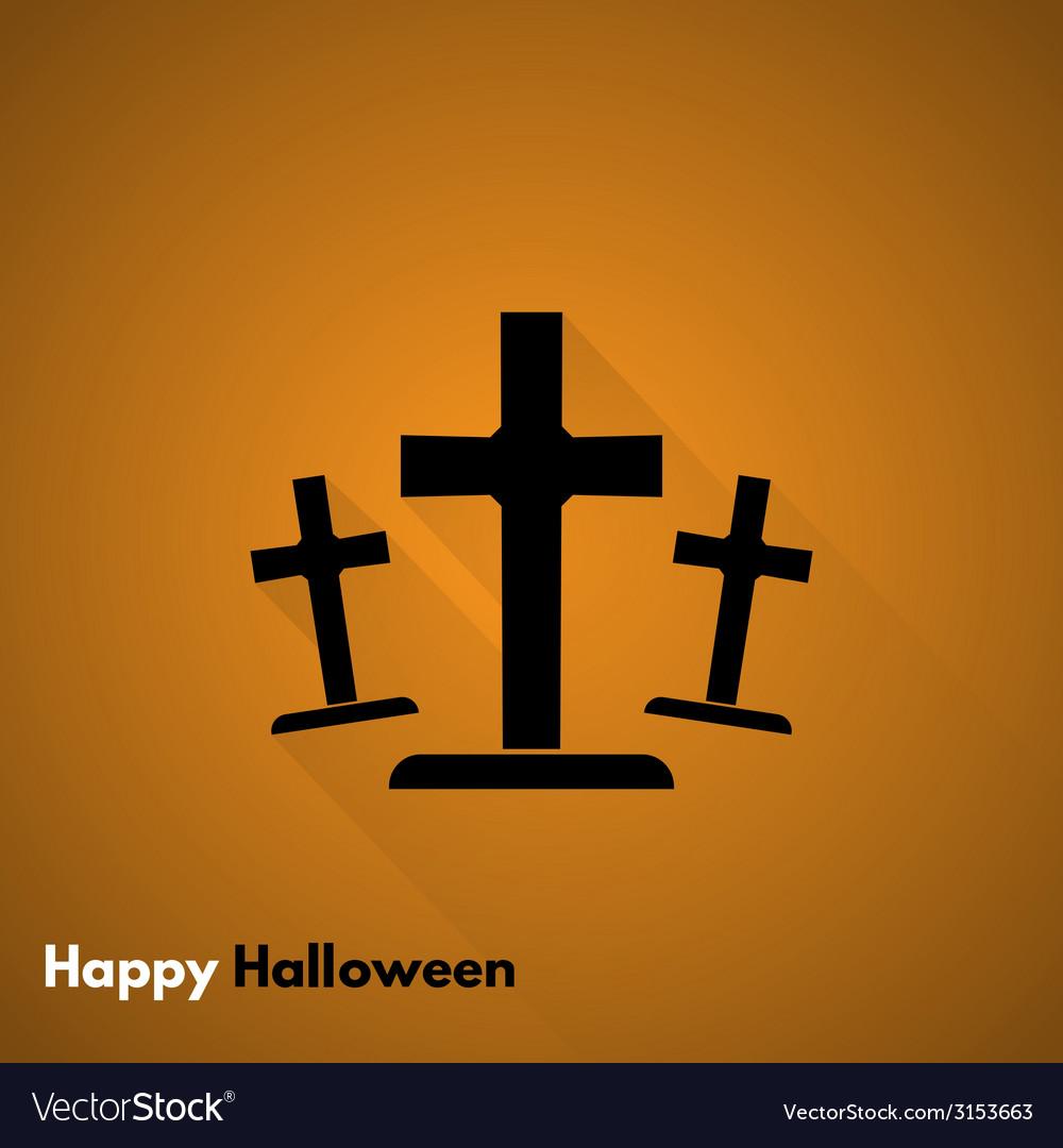 Happy halloween gravestone icon vector | Price: 1 Credit (USD $1)