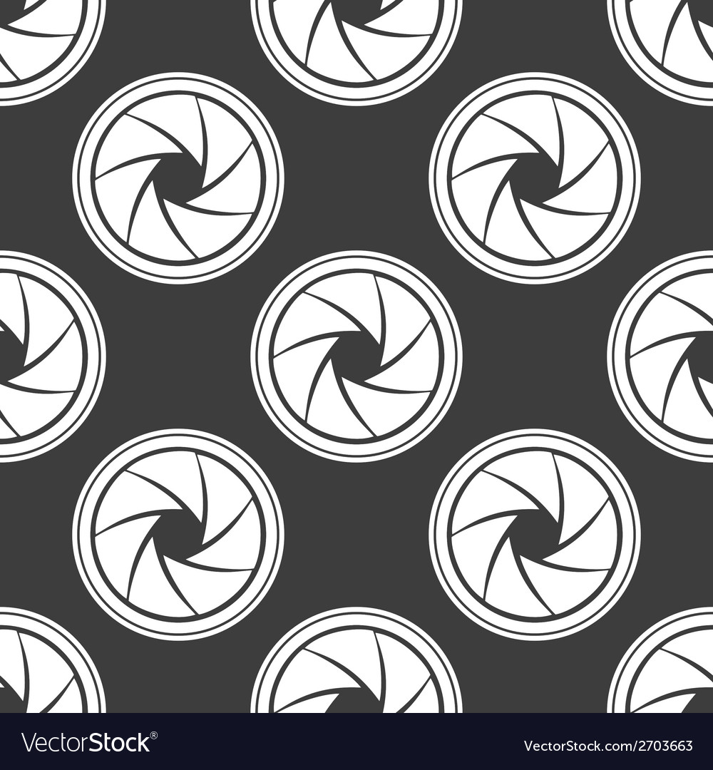 Photo camera diaphragm web icon flat design vector | Price: 1 Credit (USD $1)