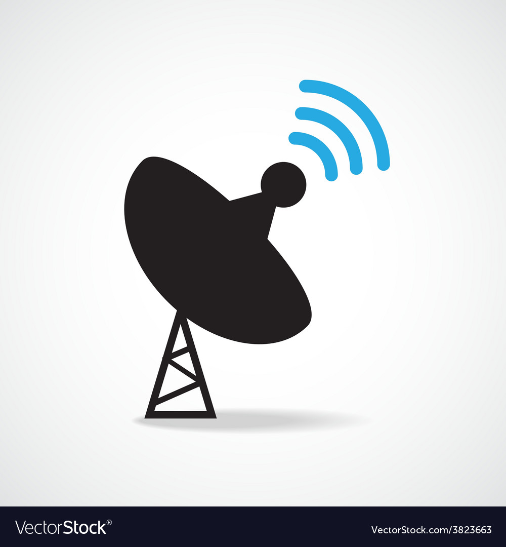 Satellite dish icon vector | Price: 1 Credit (USD $1)