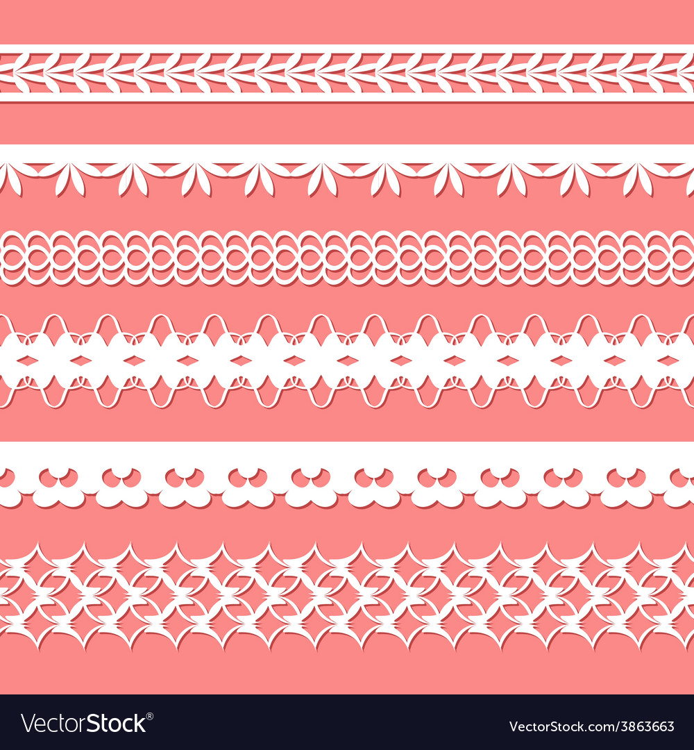 Set of paper laces vector | Price: 1 Credit (USD $1)