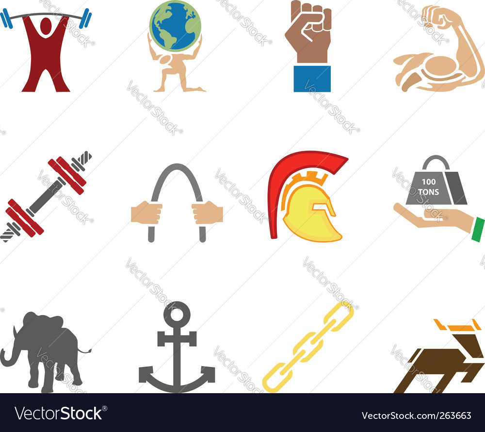 Strength icons vector | Price: 1 Credit (USD $1)