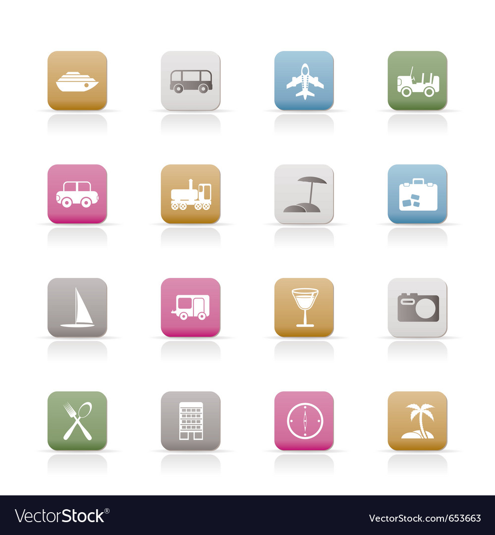 Transportation and holiday icons vector | Price: 1 Credit (USD $1)