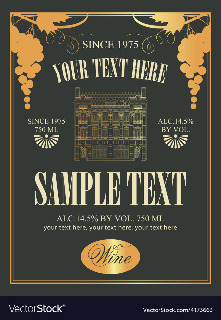 Wine label vector | Price: 3 Credit (USD $3)