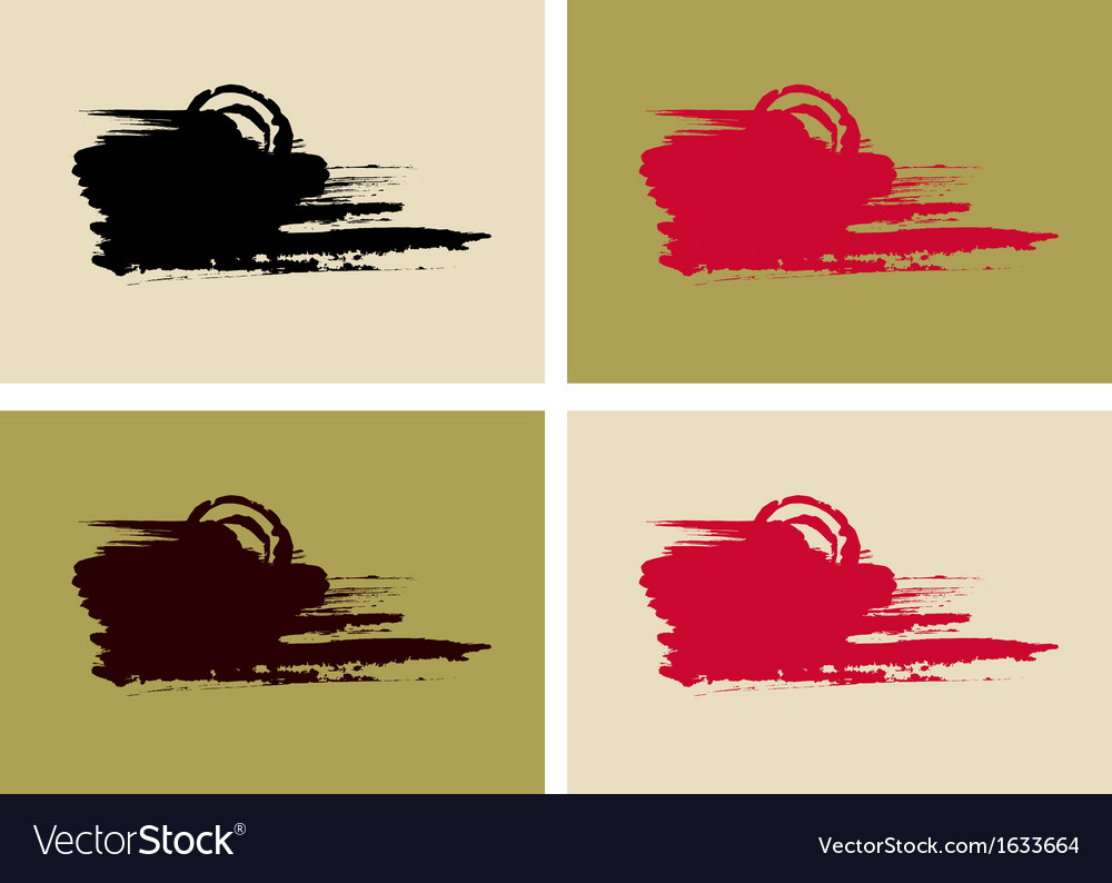 Artistic paint banners set vector | Price: 1 Credit (USD $1)