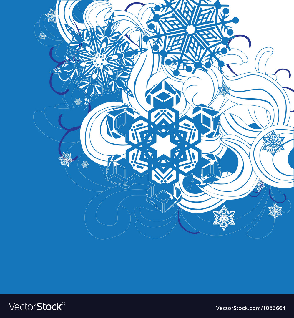Background with snowflakes vector | Price: 1 Credit (USD $1)