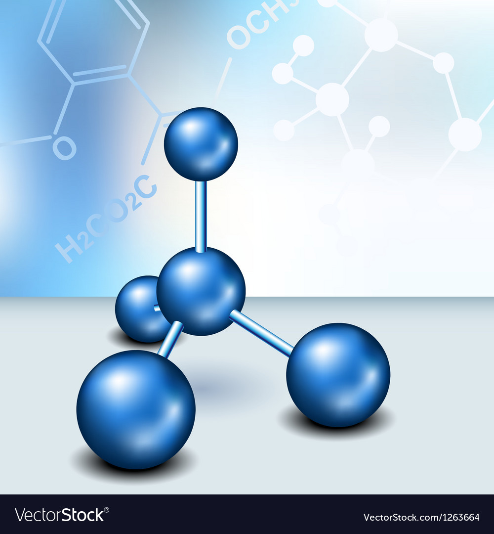 Chemistry text frame with blue molecule vector | Price: 1 Credit (USD $1)