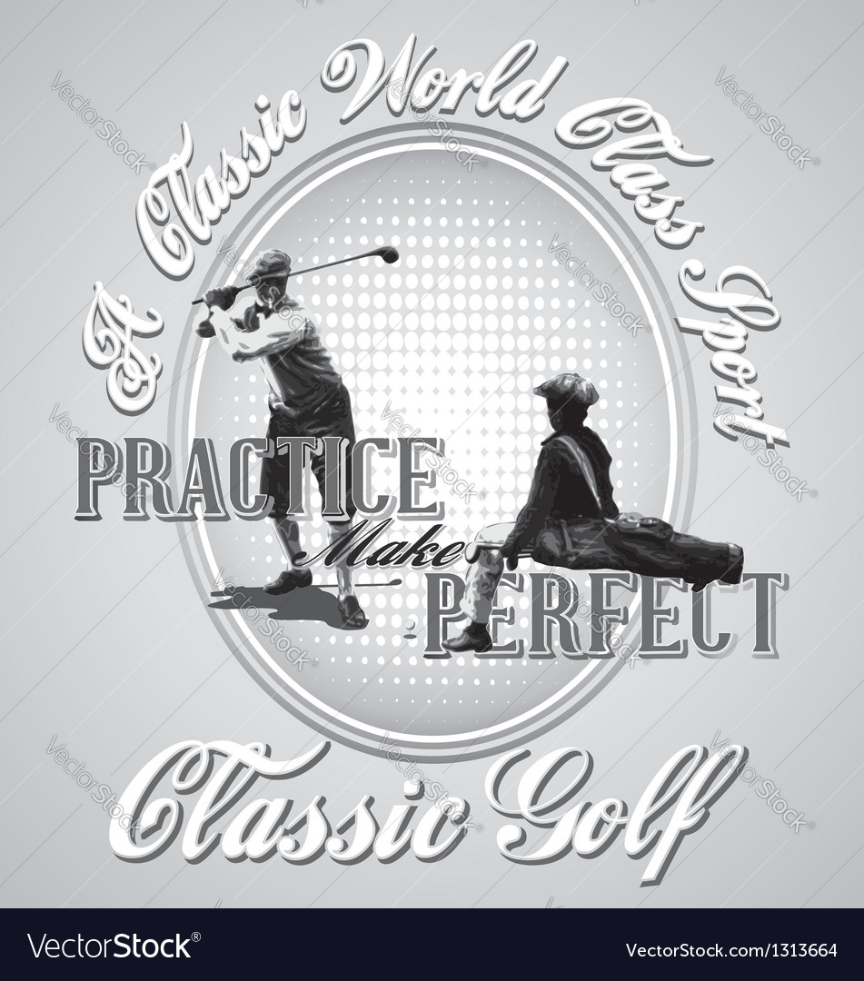 Golf practice vector | Price: 1 Credit (USD $1)