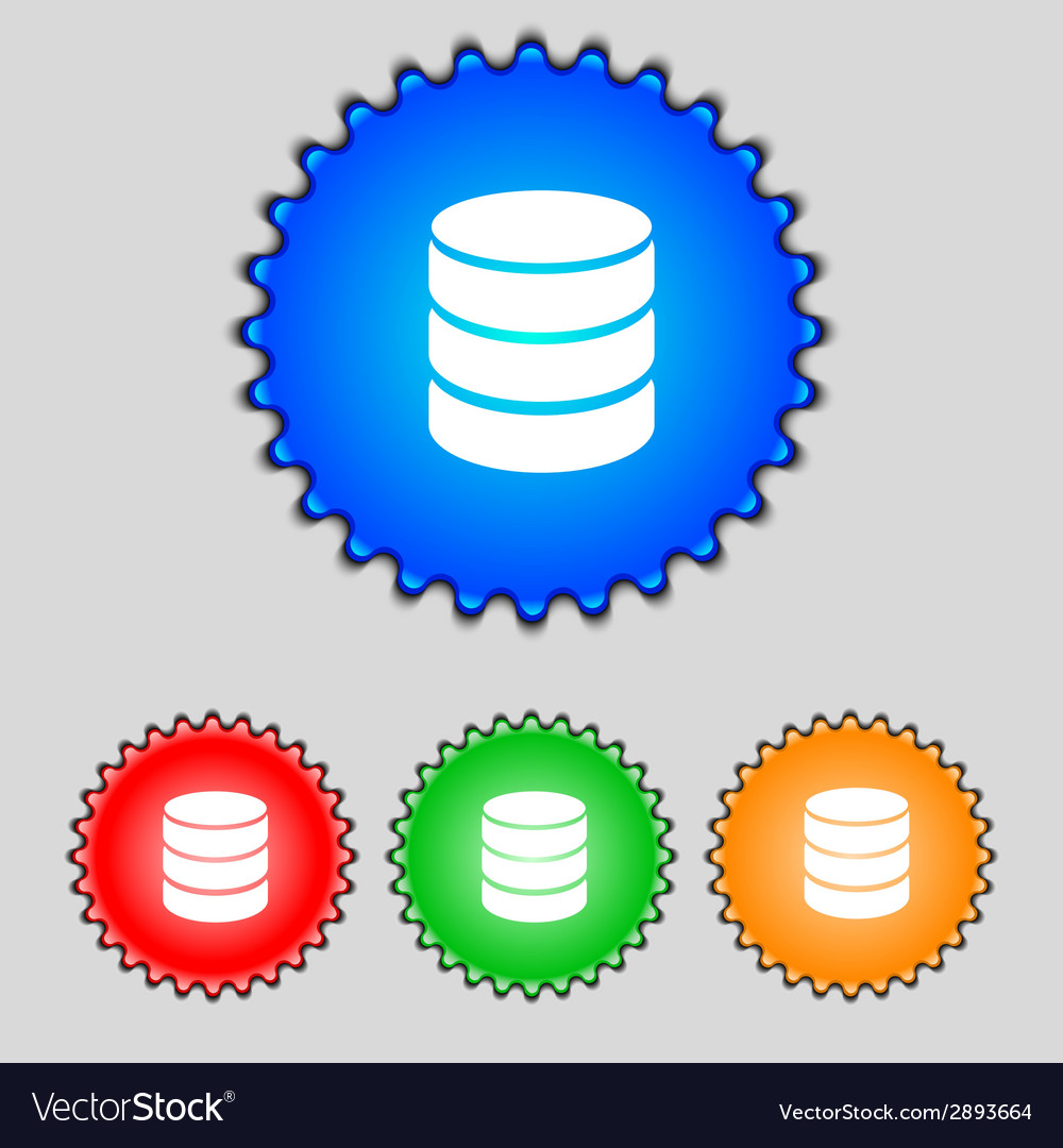Hard disk and database sign icon flash drive stick vector | Price: 1 Credit (USD $1)