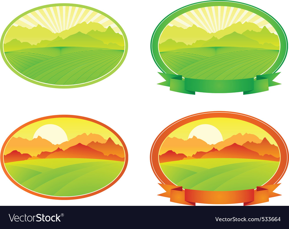 landscape with banner vector | Price: 1 Credit (USD $1)