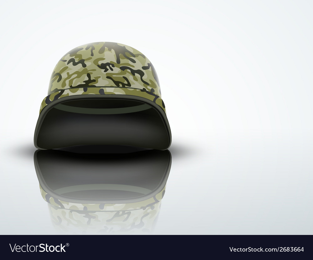 Light background military helmet with camo pattern vector | Price: 1 Credit (USD $1)
