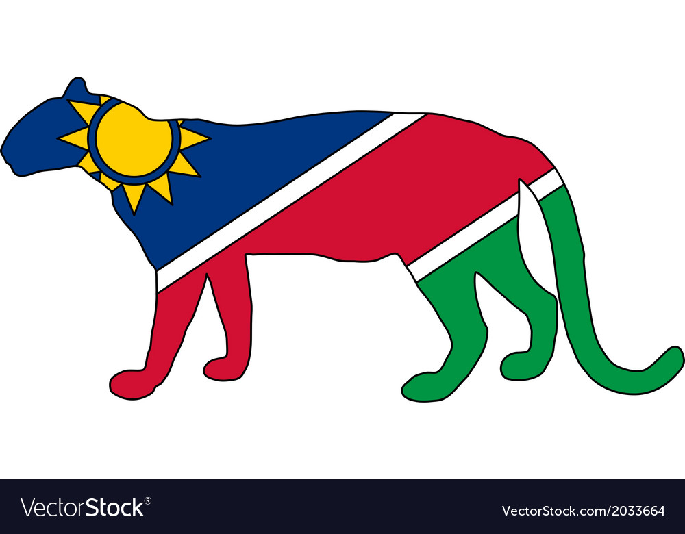 Namibia leopard vector | Price: 1 Credit (USD $1)