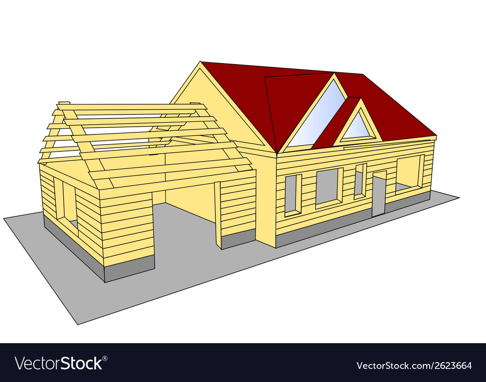 New build house vector | Price: 1 Credit (USD $1)